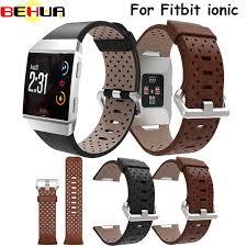 <b>Ремешок</b> для Fitbit Ionic <b>перфорированный</b> кожаный <b>аксессуар</b> ...