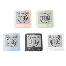 <b>LCD</b> Screen <b>Waterproof Digital</b> Bathroom Wall Clock <b>Temperature</b> ...