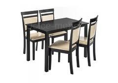 <b>Обеденная группа Modis</b> (стол и 4 стула) cappuccino / cream