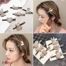 DDFI  Pearl <b>cherry</b> love rabbit bear metal hairpin hair cilp C3A01 ...