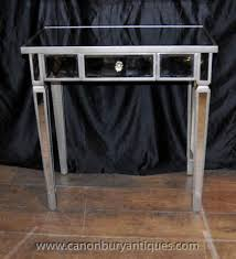 mirrored console table art deco tables mirror furniture art deco mirrored furniture