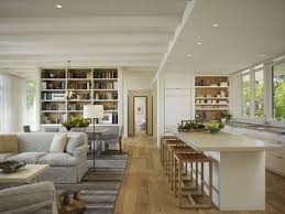 Good Looking Open Living Room And Kitchen Designs With White    good looking open living room and kitchen designs   white kitchen cabinets and kitchen island also