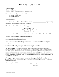 payoff letter letters of recommendation examples navcsg letters sample mortgage payoff letter template via