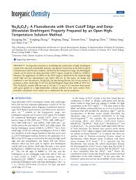 (PDF) Na <b>2</b> B 6 O 9 F <b>2</b> : A Fluoroborate with Short Cutoff Edge and ...