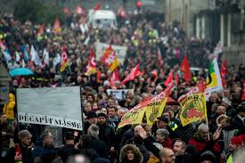 Hundreds of thousands march in France in <b>new round of</b> pension ...