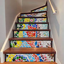 Amazon.com: Uphome Self-Adhesive Stair <b>Stickers</b>, <b>Colorful</b> Stone ...