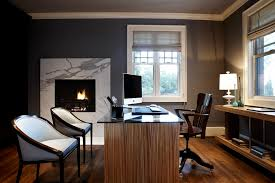 modern craftsman master bedroom office trendy study room photo in seattle with gray walls medium tone office space free online