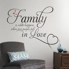 wall decal family art bedroom decor best selling on ebay family is two people in love quotes wall decals vinyl wall stickers