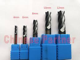 <b>1pc</b> 4mm/6mm/8mm/<b>10mm</b>/12mm <b>4 Flutes</b> Roughing end mill Spiral ...