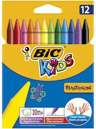 Цветные <b>мелки</b> пластиковые <b>BIC</b> Plastidecor, 12 цветов <b>BIC</b> ...