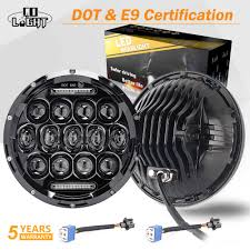 <b>CO LIGHT 7 inch Led</b> Headlight Offroad 4x4 110W with Halo Ring Hi ...