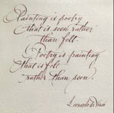 Painting Is Poetry, Poetry Is Painting, Quote by Leonardo da Vinci ... via Relatably.com
