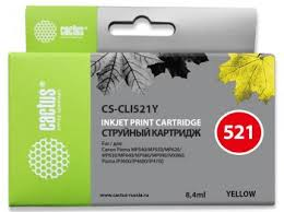 <b>Картридж</b> струйный <b>Cactus CS</b>-<b>CLI521Y</b> желтый (8.4мл) для ...