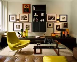 medium size of affordable apartment interior yellow leather back chair black oak laminate wall bookcase glass affordable apartment furniture