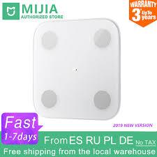 100% Original <b>Xiaomi Mi</b> Smart <b>Body</b> Fat <b>Scale</b> 2 Mifit APP <b>Body</b> ...