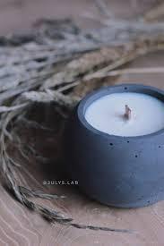 Соевая <b>свеча</b> в бетоне с древесным фителем Шар Black (с ...