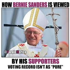 Image result for saint bernie sanders