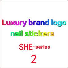 2020New бренд <b>наклейки для ногтей</b> роскошный логотип ...