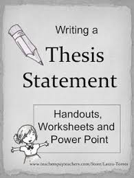 Thesis Statement Projected Plan Introduction th th Grade Lesson