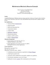 mechanic resume photo sample  seangarrette cosample auto mechanic resume maintenance mechanic resume example   mechanic resume