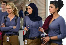 how the movies gave us donald trump la times quantico s priyanka chopra right yasmine al massri johanna braddy and brian