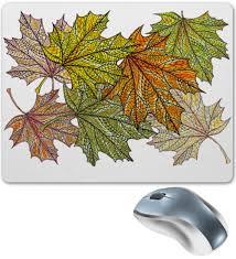 <b>Коврик для мышки</b> Осенний кленовый узор #2579995 от Achadidi ...