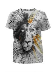Футболка с полной запечаткой для мальчиков the <b>Lion</b> #1857078 ...