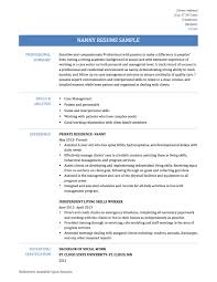 nanny summary resume resume for nanny job example resume for to make a nanny resume nanny resume sample amp writing guide resume