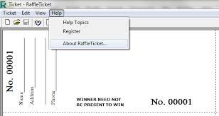 Printable Raffle Ticket Template Free : Raffle Ticket Template ... Free Raffle Ticket Template with Numbers