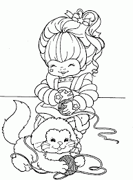 Small Picture Rainbow Brite Coloring Pages Coloring Home