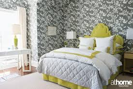 yellow and gray bedroom: yellow and gray bedroom with citron headboard view full size