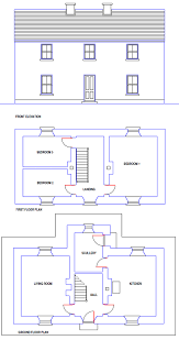 Blueprint Home Plans  House Plans  House Designs  Planning    The two storey house in its simple form had a central hall containing the stairs  off which the kitchen and living room opened  Windows were simple up and