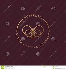 Butterfly Logo. <b>Beautiful Decorative Butterfly</b> From Intertwined Lines ...