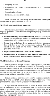 module guidance concept and needs concept of guidance pdf some of the advantages of group guidance are as follows inspires learning and understanding