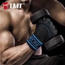 TMT gym gloves dumbbell <b>Half Finger Fitness</b> Fingerless Sport ...
