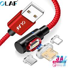 <b>OLAF</b> 2M Quick charge 3.0 <b>3A Magnetic</b> cable Micro Type usb C fast ...