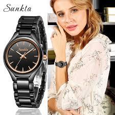 <b>Zegarek Damski</b> SUNKTA <b>New</b> Diamond Quartz Women Watches ...