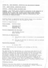inspection report on frontier house childrens home kent run by timeline