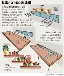 diy install floating shelf build floating shelves
