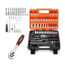 <b>53PCS AUTOMOBILE MOTORCYCLE CAR</b> REPAIR TOOL BOX ...