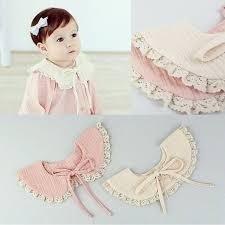 Toddler <b>Girl</b> Kid Fake <b>False Collar Baby</b> Lace Cotton Detachable Tie ...