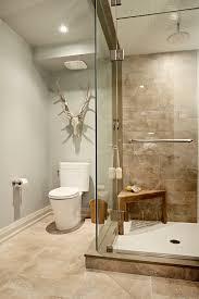 bathroom shower tile design color combinations: gorgeous teak shower bench in bathroom transitional with tan tile next to bathroom color combinations alongside faux