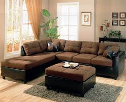 living room collections home design ideas decorating elegant  living room l shaped black leather and brown seat couches and ottoman coffee table with grey fur rug on wooden floor plus cream curtains on white living room wall modern small living room couches brin