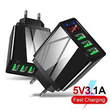 <b>5V3</b>.<b>1A Digital Display Charger</b> 3 USB Digital Display Fast Charge ...
