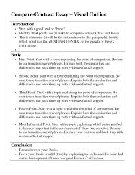 ways to write a compare and contrast essay  wwwgxartorg example of a comparison essay socialsci cooutline format contrast essay outline sample example of a comparison