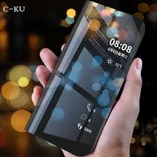 Case for Capinha Xiaomi mi a2 lite <b>Luxury Flip Stand Leather</b> Mirror ...