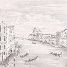 <b>Панно Город на</b> воде Venice 75x75 <b>декор</b> серый купить ...