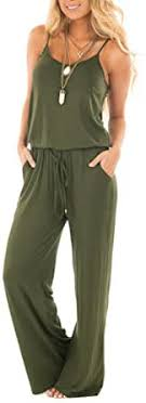 sullcom Women Summer Solid Sleeveless Wide Leg ... - Amazon.com