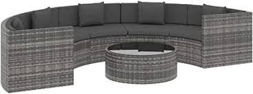 vidaXL <b>6 Piece Garden Lounge</b> Set with Cushions Outdoor Terrace ...
