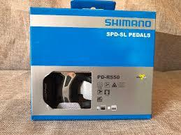 original <b>SHIMANO PD R550</b> 105 Road bicycle <b>self locking</b> pedals ...